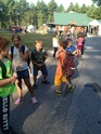 Waiting for the bus. Before and after school for Hollis and Waterboro Elementary schools.