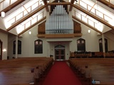 The sanctuary and organ pipes.