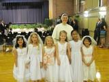 2nd Grade First Communion Girls with Sr. Mary Lucy