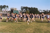 We offer many sports.  Here's a shot of some of our cross country competitors getting ready to start a race.