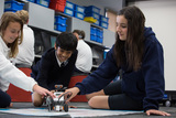 Middle School students emerged in 21st Century Learning plan, which builds off of our curriculum mapping process. Classrooms are equipped with powerful tools and flexible arrangements to support a variety of traditional and alternative strategies.