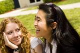 Students enjoying a quick break between classes