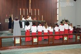 Students in Grades 1 - 5 attend chapel twice each week with older students serving as acolytes. The preschool students attend one chapel each week.