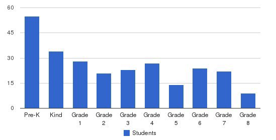 St. Patrick Catholic School Students by Grade