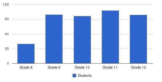 Cabrini High School Students by Grade