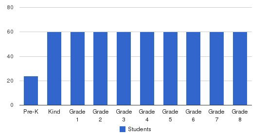 St. Elizabeth Elementary School Students by Grade
