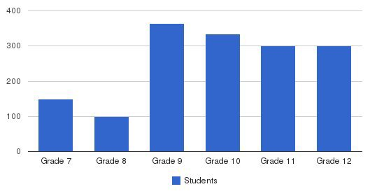 Boston College High School Students by Grade