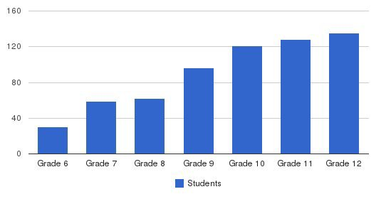 Worcester Academy Students by Grade