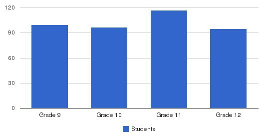 Trinity High School Students by Grade
