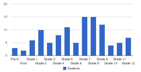 Mountain View Baptist School Students by Grade