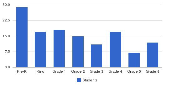 St Agnes Elementary School Students by Grade