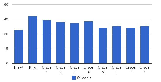 The Town School Students by Grade