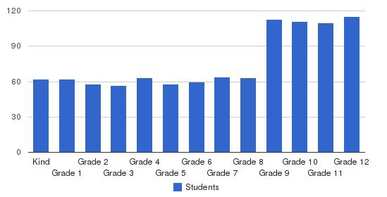 Trinity School Students by Grade