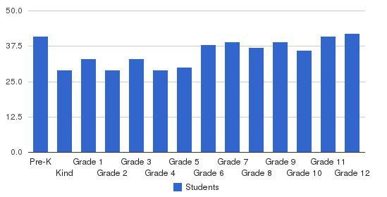 Carolina Friends School Students by Grade