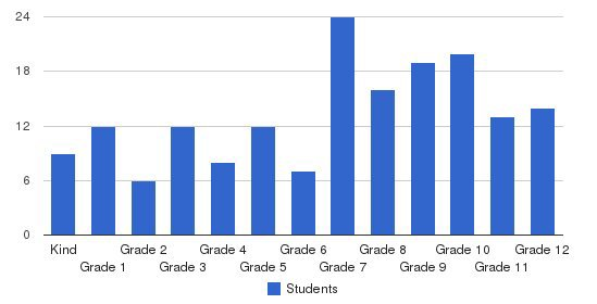 Mountain View Christian Academy Students by Grade