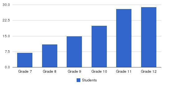 Oak Ridge Military Academy Students by Grade