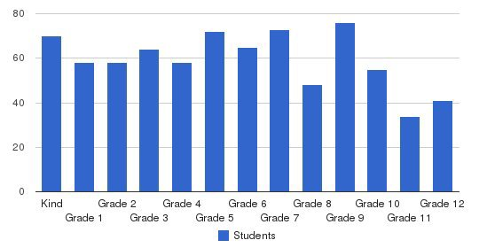 Village Christian Academy Students by Grade
