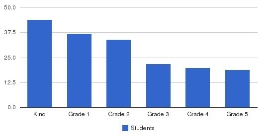 Central College Christian Academy Students by Grade