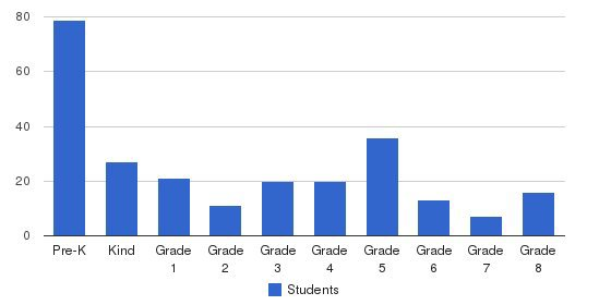 Rockwern Academy Students by Grade