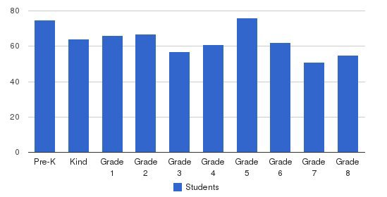 St Anastasia Elementary School Students by Grade