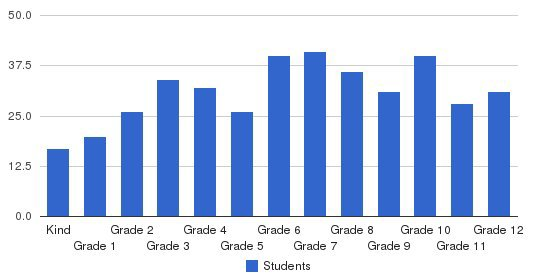 The Christian Academy Students by Grade