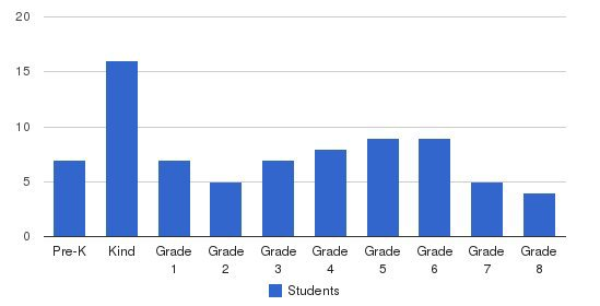 The Lutheran Academy Students by Grade
