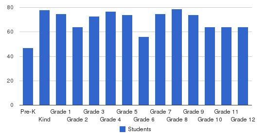 Hammond School Students by Grade