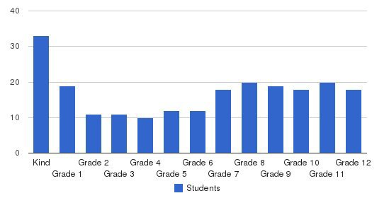 Laurens Academy Students by Grade