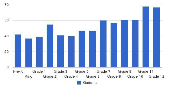 Pinewood Preparatory School Students by Grade