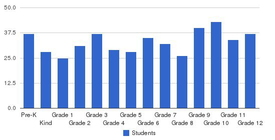 Spartanburg Day School Students by Grade