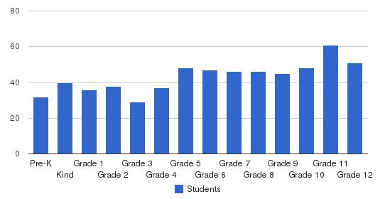 Clarksville Academy Students by Grade