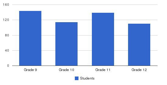 Houston Christian High School Students by Grade