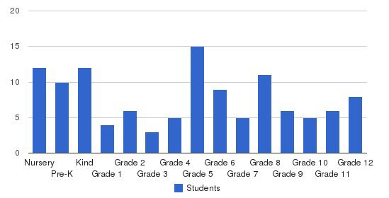 St Michaels Academy Students by Grade