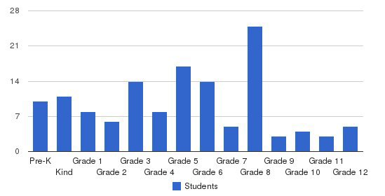 Texas Christian Academy Students by Grade