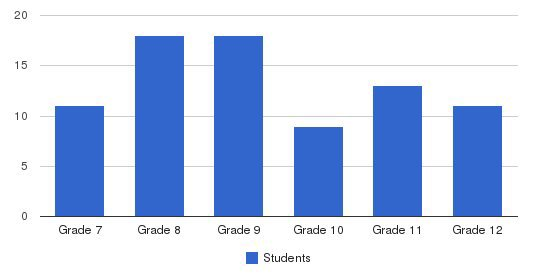 Vermont Commons School Students by Grade