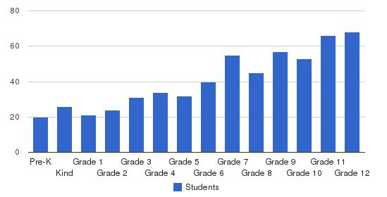Hampton Roads Academy Students by Grade