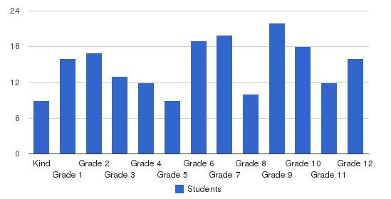Sl Jones Christian Academy Students by Grade