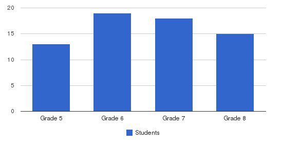 Sophia Academy Students by Grade