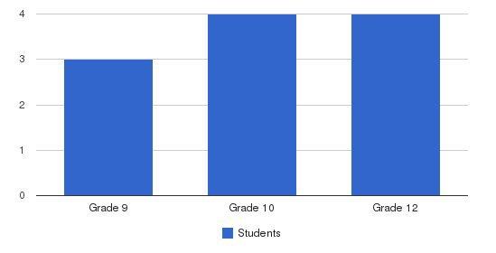 Hillside Alternative Program Students by Grade
