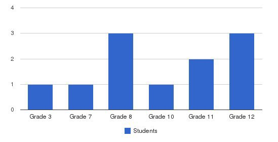 Bethel Christian Academy Students by Grade