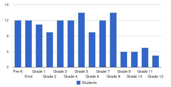 Vista Ridge Academy Students by Grade