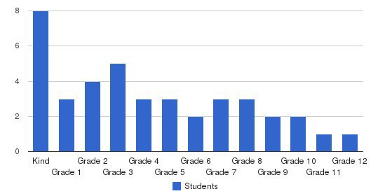 Black Star Educational Institute Students by Grade