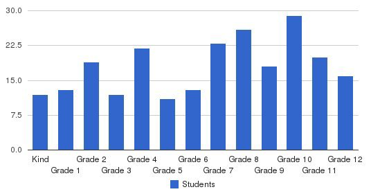 Damascus Christian School Students by Grade