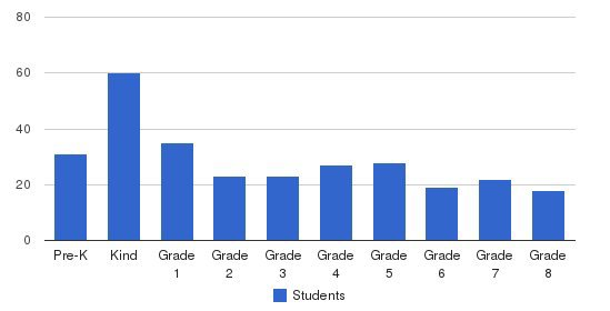 St Hyacinth Academy Students by Grade