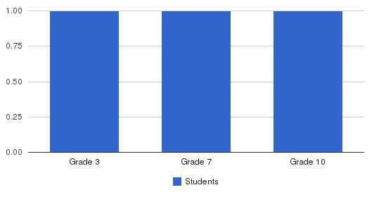 Yang Academy Students by Grade