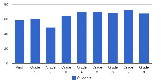 St John Vianney Elementary School Students by Grade