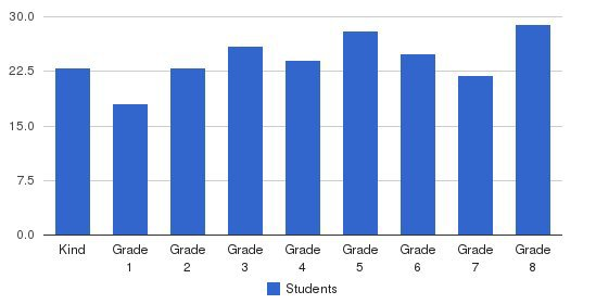 St Vincent De Paul Elementary School Students by Grade