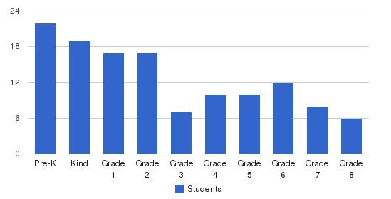 Colorado Springs Academy Students by Grade