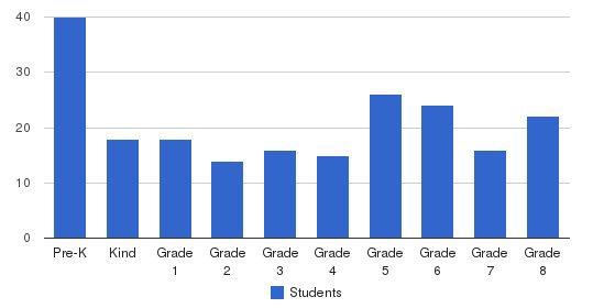 St Aedan/st Brendan School Students by Grade