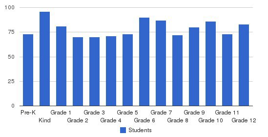 Caravel Academy Students by Grade